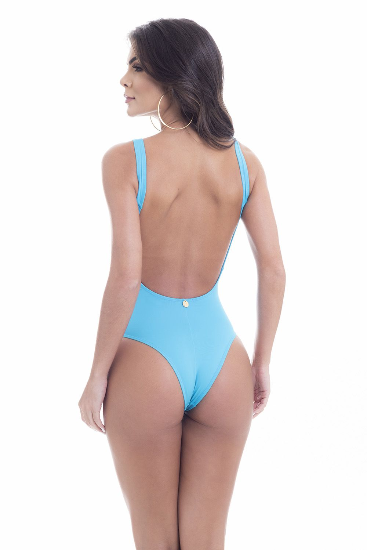 Maiô Nó Mermaid Azul Turquesa