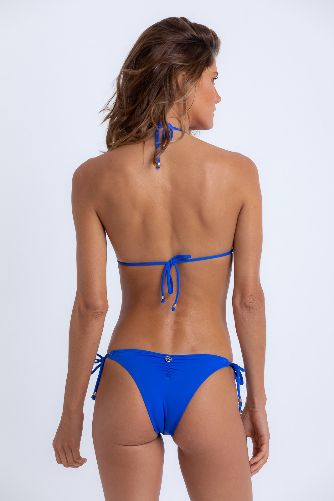Tanga Amanda Cortina Azul Royal