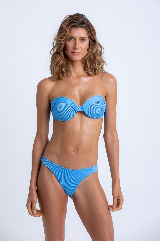 Top Livia Bandeau Azul Prada