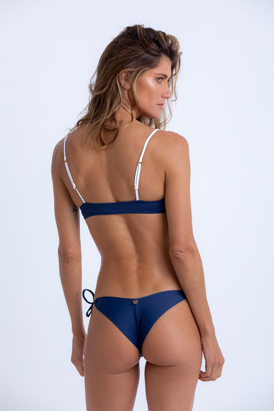 Top Mariana Recortes Azul Marinho