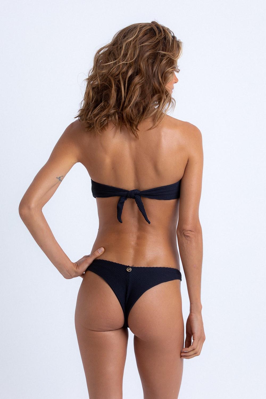 Top Patricia Bandeau Black Texture