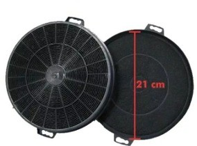 02 Filtro De Carvão Para Coifa Fischer 21cm Diâmetro