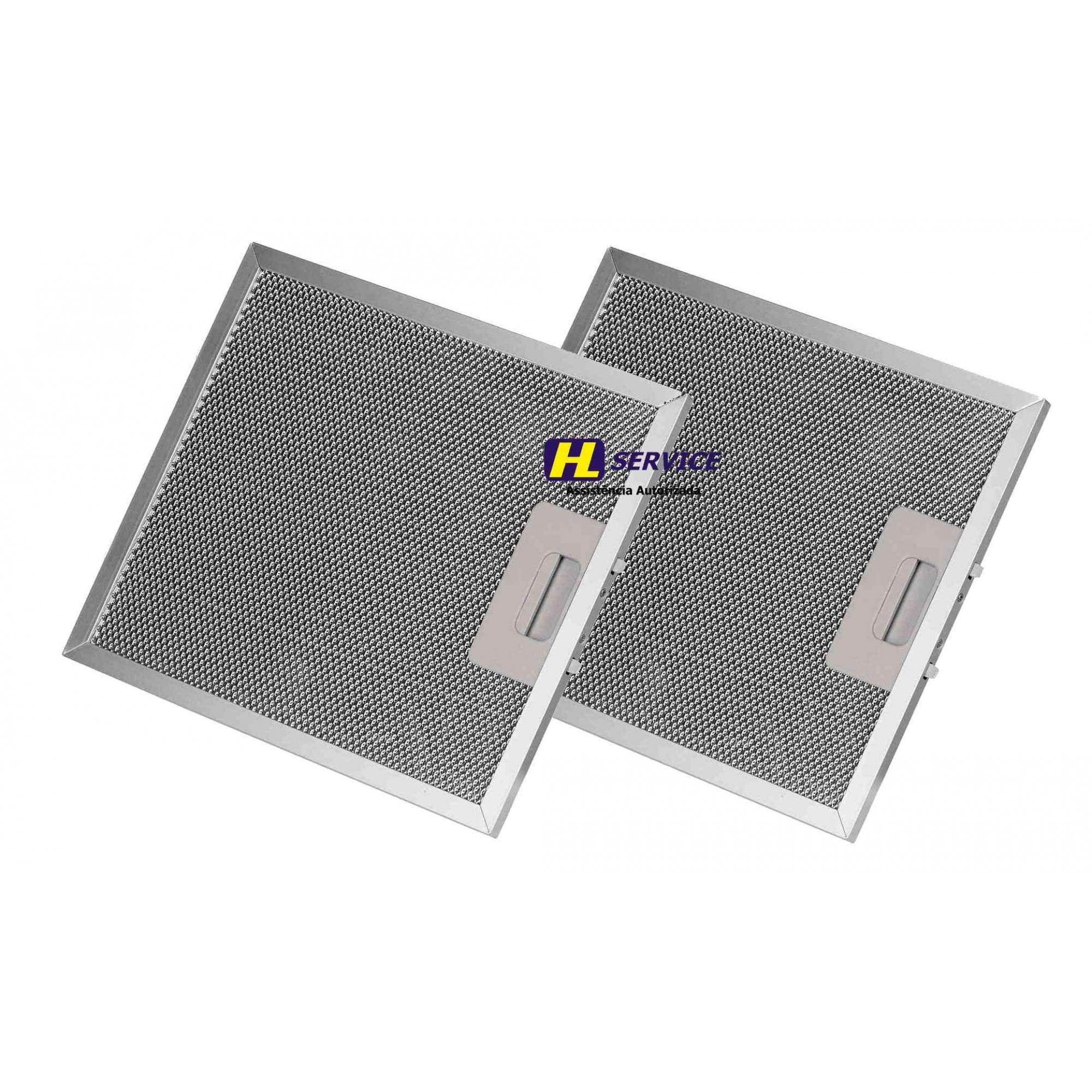02 Filtros Alumínio Coifa Topazio 60cm TP776 28x40 Cm Suggar