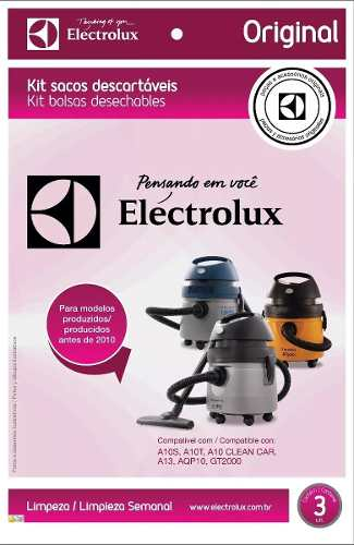 Saco Aspirador Eletrolux A10 Antigo Anterior 2010 - 3 Un