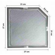 02 Filtro Carvão + 02 Filtro Aluminio Coifa Island Fischer