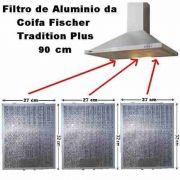 Filtro Alumínio + Filtro Carvão Coifa Fischer Tradition 90cm