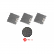 Kit 03 Filtros Tela + Filtro Carvão Depurador SLIM SUGGAR 27,8 x 31,6 cm