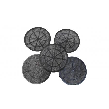 Kit 5 Filtros de Carvão Depurador Slim Suggar 16,5 5 Unidades