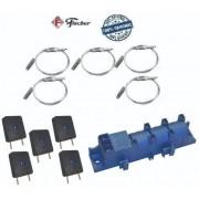 Kit 5 Interruptor + 5 Eletrodo + 1 Usina Cooktop Fischer