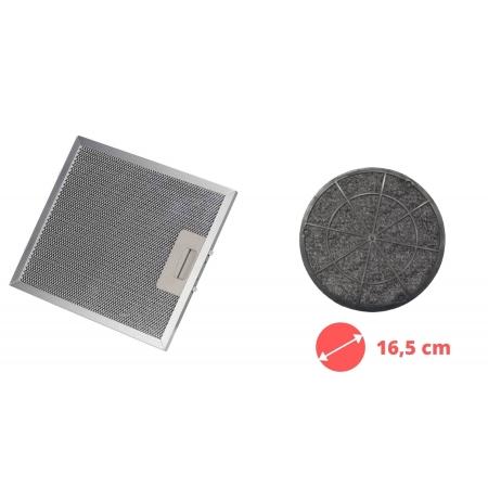 Kit Filtro Tela + Filtro Carvão Depurador SLIM SUGGAR 27,8 x 31,6 cm