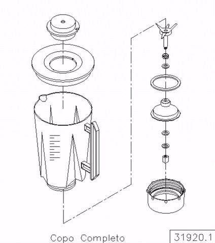 Copo Completo Original Liquidificador Siemsen Skymsen Lt 1,5