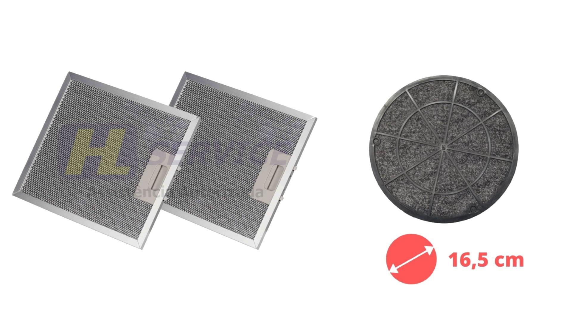 Kit 02 Filtros Tela + Filtro Carvão Depurador SLIM SUGGAR 27,8 x 31,6 cm