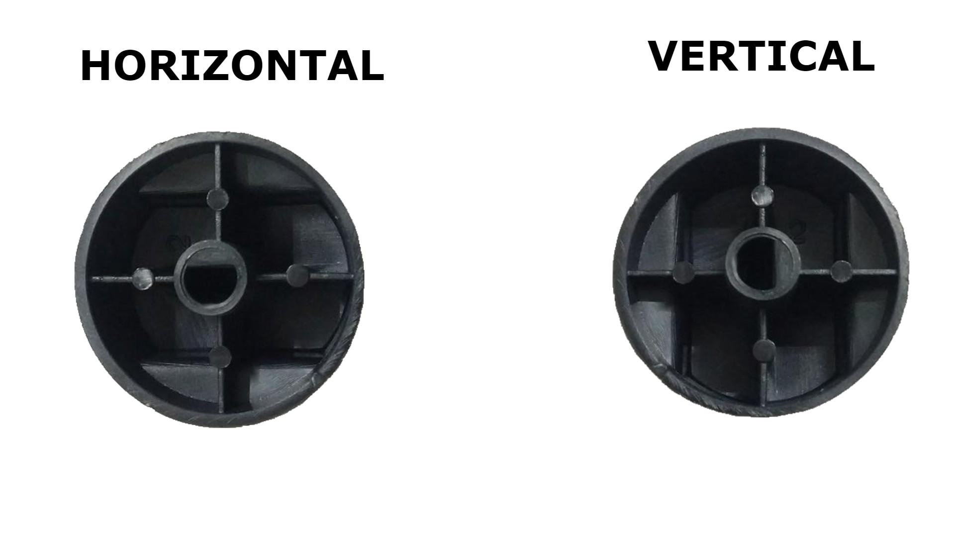 Kit 03 Botões Built Vertical Prata