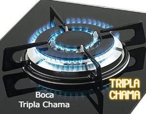 Kit 04 Válvula Registro Fogão Cooktop Fischer 4 Bocas Tripla Chamas