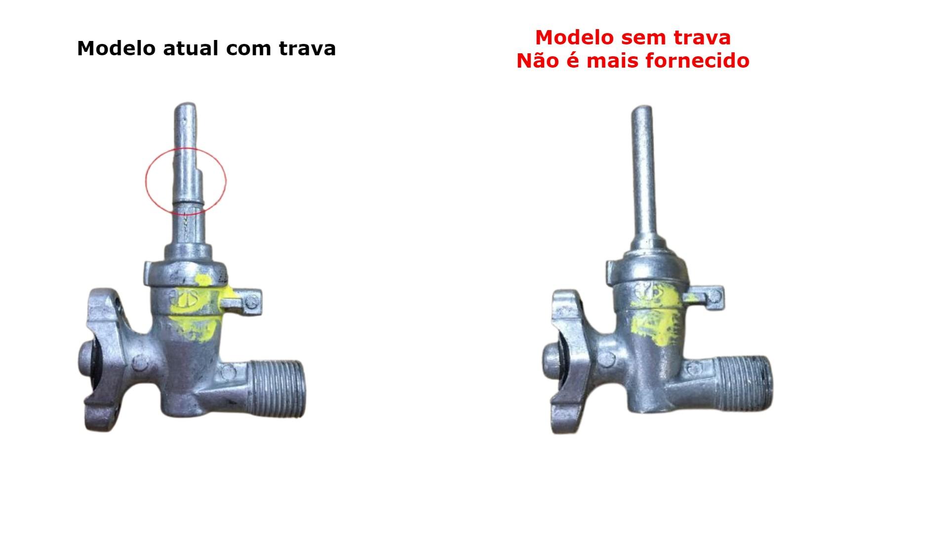 Kit 2 Registro Válvula Fogão Cooktop Fogatti Nardelli Wanke