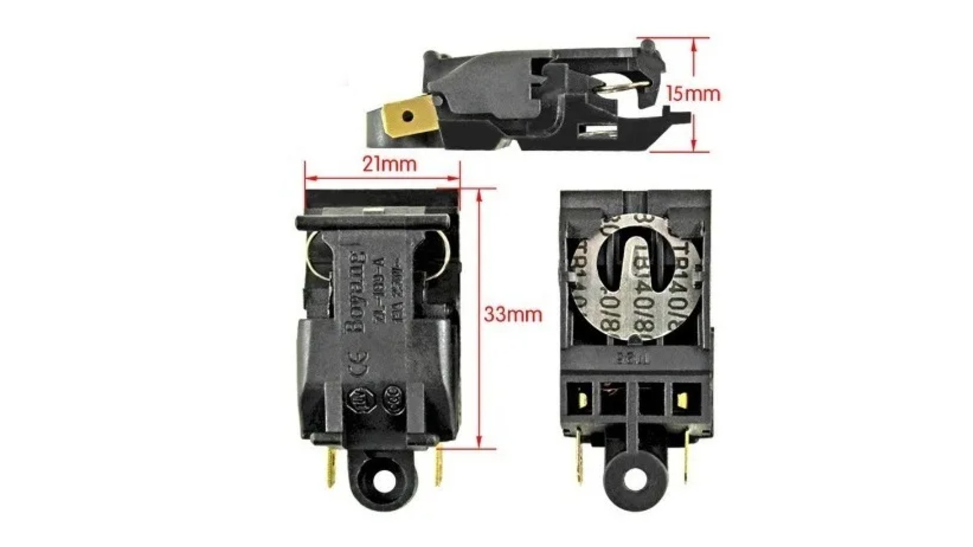 Kit Interruptor Chave Termostato Chaleira Elétrica 5 un