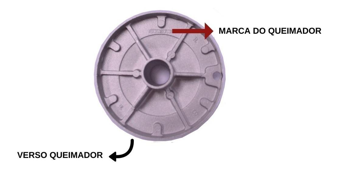 Kit Queimador + Espalha Chamas Grande 10 Cm Fogão Cooktop Sabaf C/ Aba Fischer