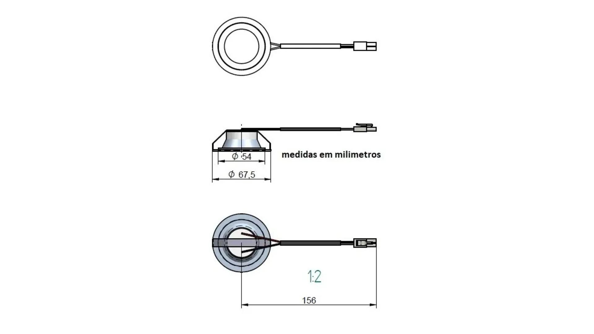 Lampada De Led Redonda Para Coifas Fogatti/nardelli/terim