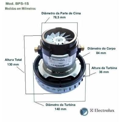 MOTOR ASPIRADOR BPS1S 127V ELECTROLUX (64300670) 1000W