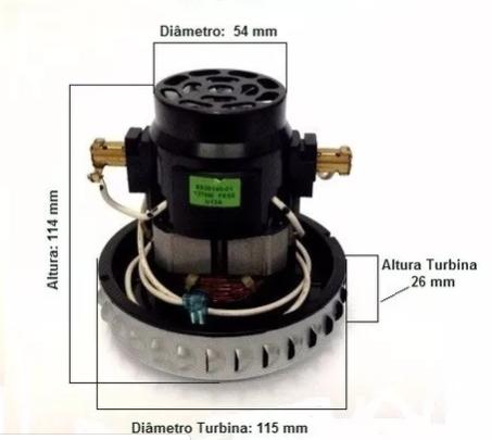 Motor P/ Aspirador Electrolux A10n1/aqp20/gt20n/gt30n - 127v