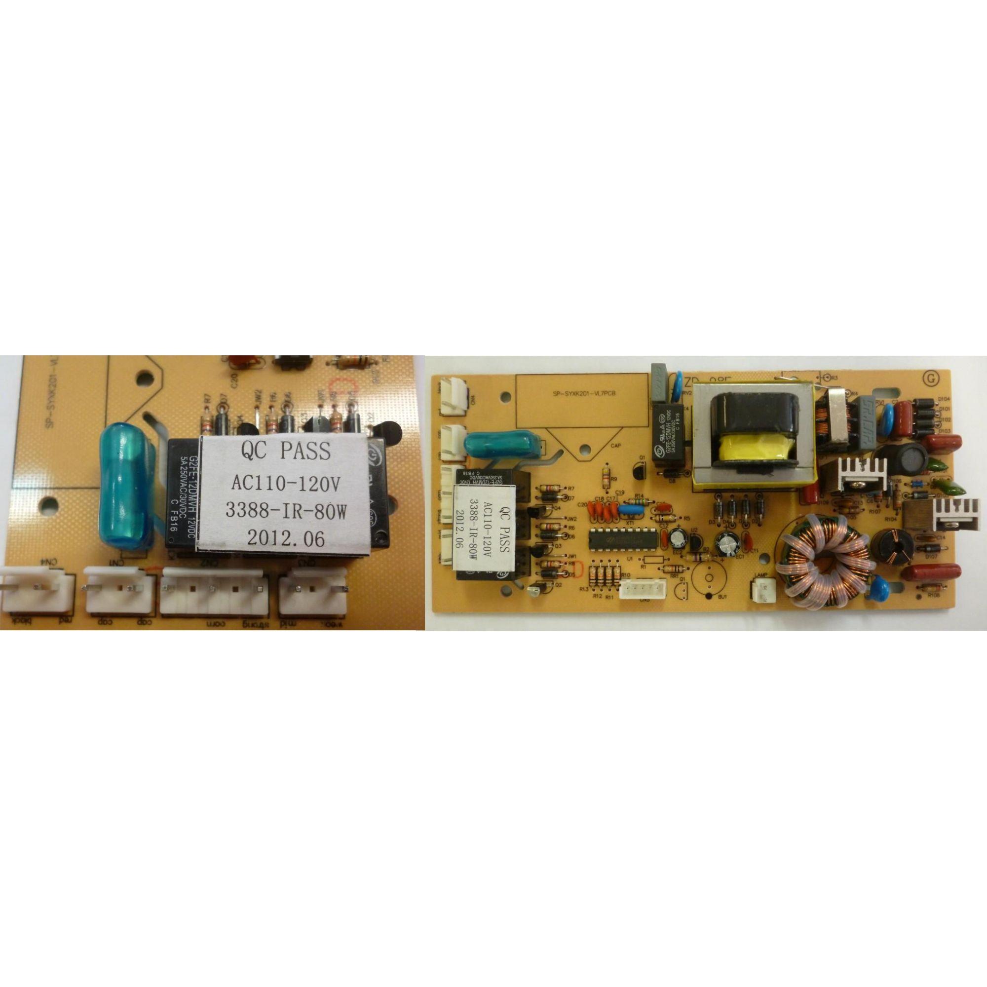 Placa Eletronica Da Coifa De Ilha Fischer 127v c/ Capacitor