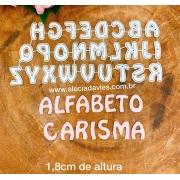 Alfabeto Carisma 1,8cm de altura
