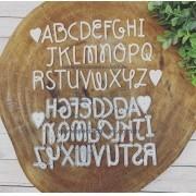 Alfabeto Love maiúsculo