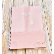 Caderno universitário  rosa candy