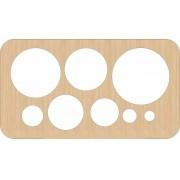 Faca círculos corta couro, feltro, courinho, tecido, EVA, papel etc