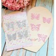 Conjunto 4 borboletas