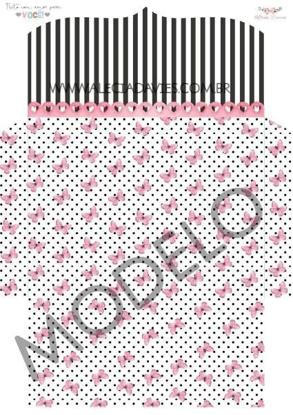 ARTE ENVELOPE preto e pink ( CORTADO A MÃO)