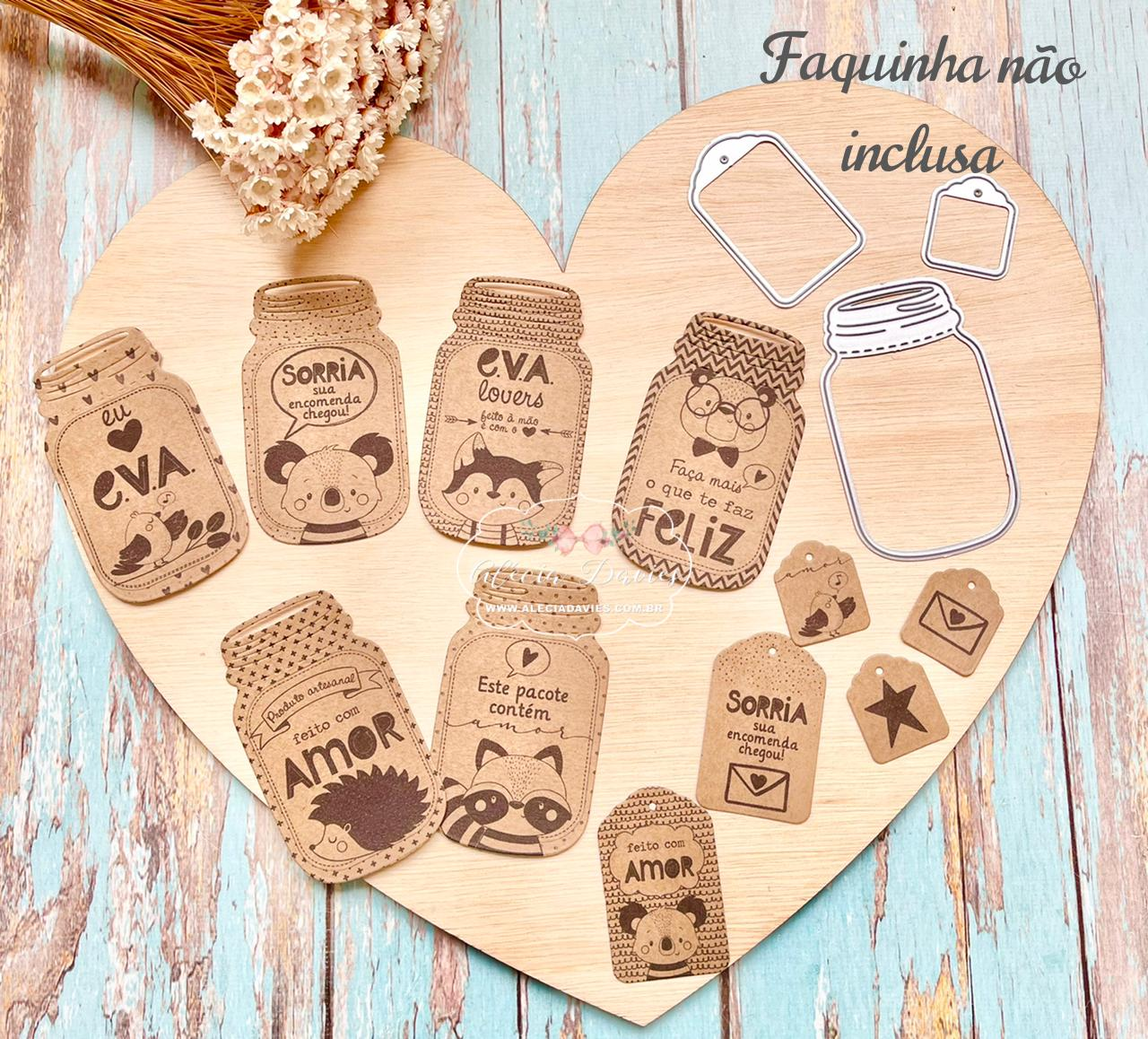 Arte fofa para embalagens EVA LOVERS