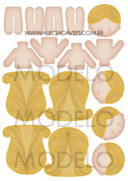 ARTE CORPO MENINAS GRANDES (BONECA ANINHA GRANDE)