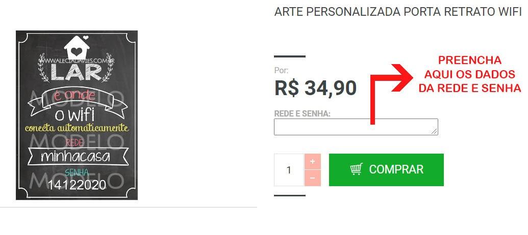 ARTE PERSONALIZADA PORTA RETRATO WIFI