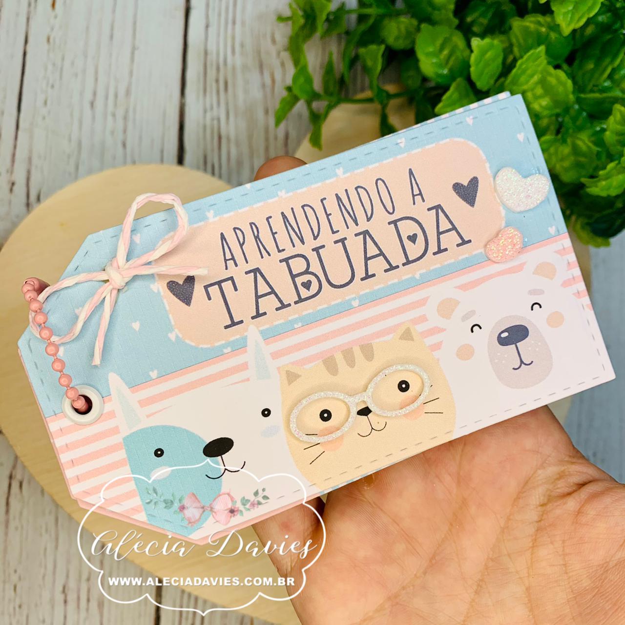 ARTE TABUADA BICHINHOS FOFOS TAG RETA (também é comp. com mini máquina)