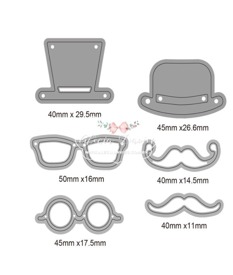 Chapeu bigode oculos