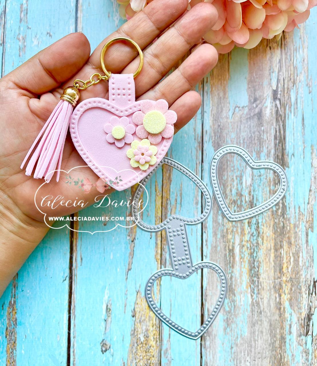 chaveiro coração fofo