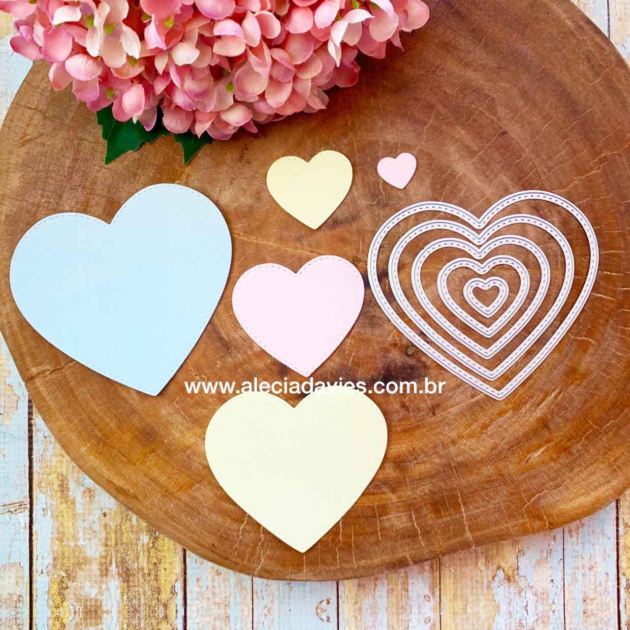 INATIVOcoração corações variados tamanhos