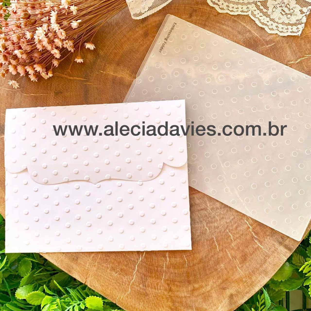 Faca envelope aba decorada