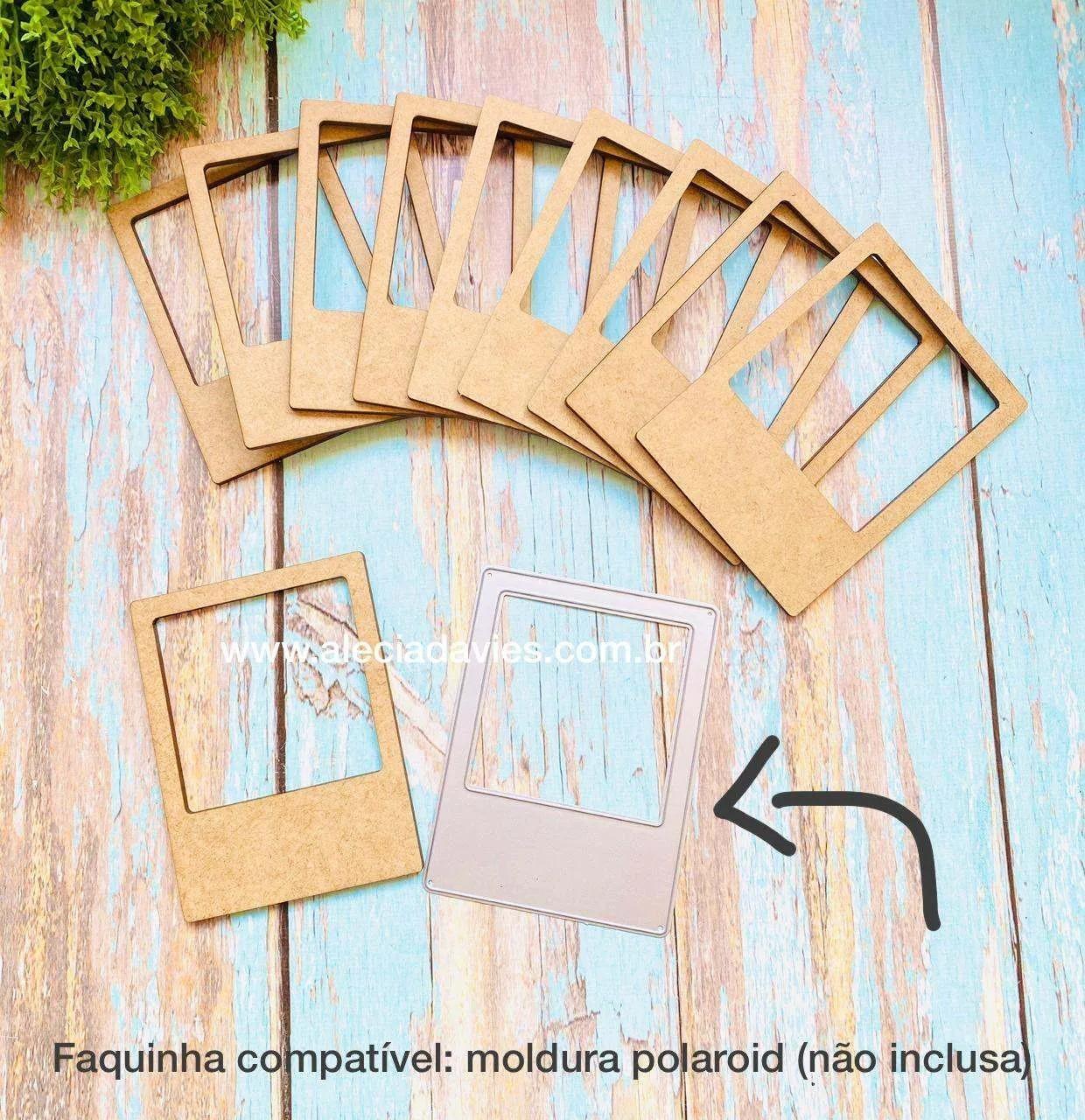 Kit 10 molduras estilo polaroid