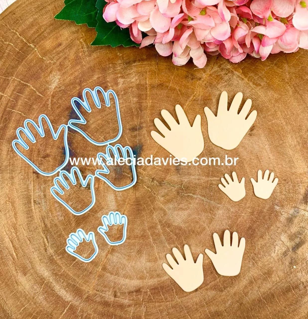 mãos maozinhas 3 tamanhos