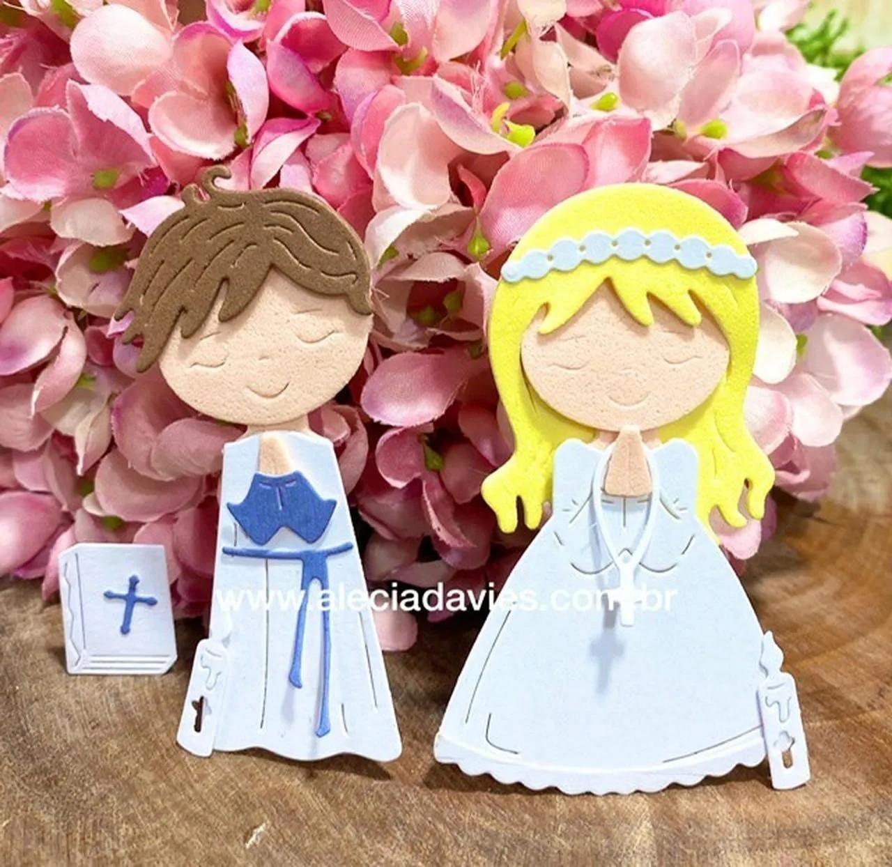 Menino e Menina Primeira comunhão primeira eucaristia