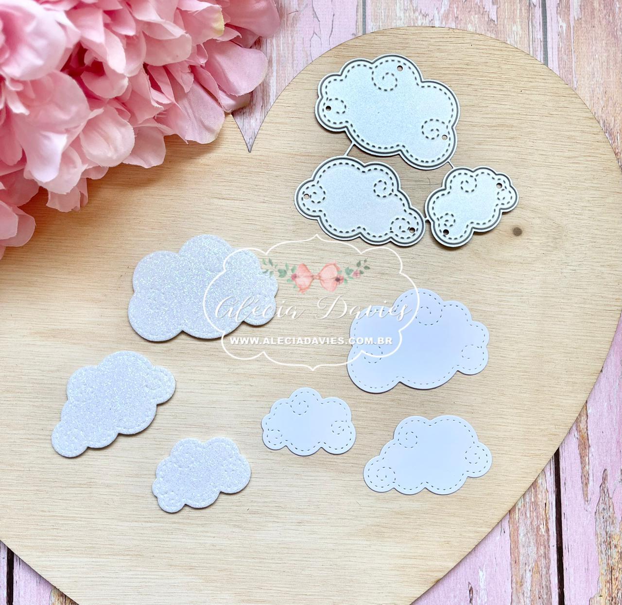 Nuvem nuvens estilosas