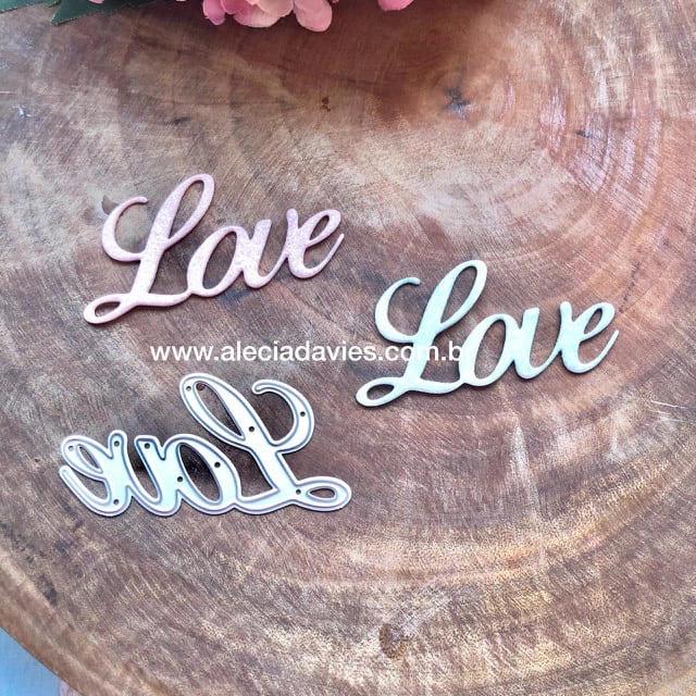 Palavra Love cursiva