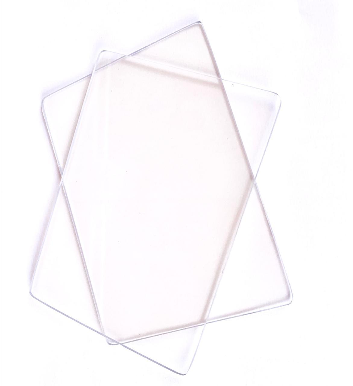 Par de placas acrílicas 10x15cm  para máquinas de corte