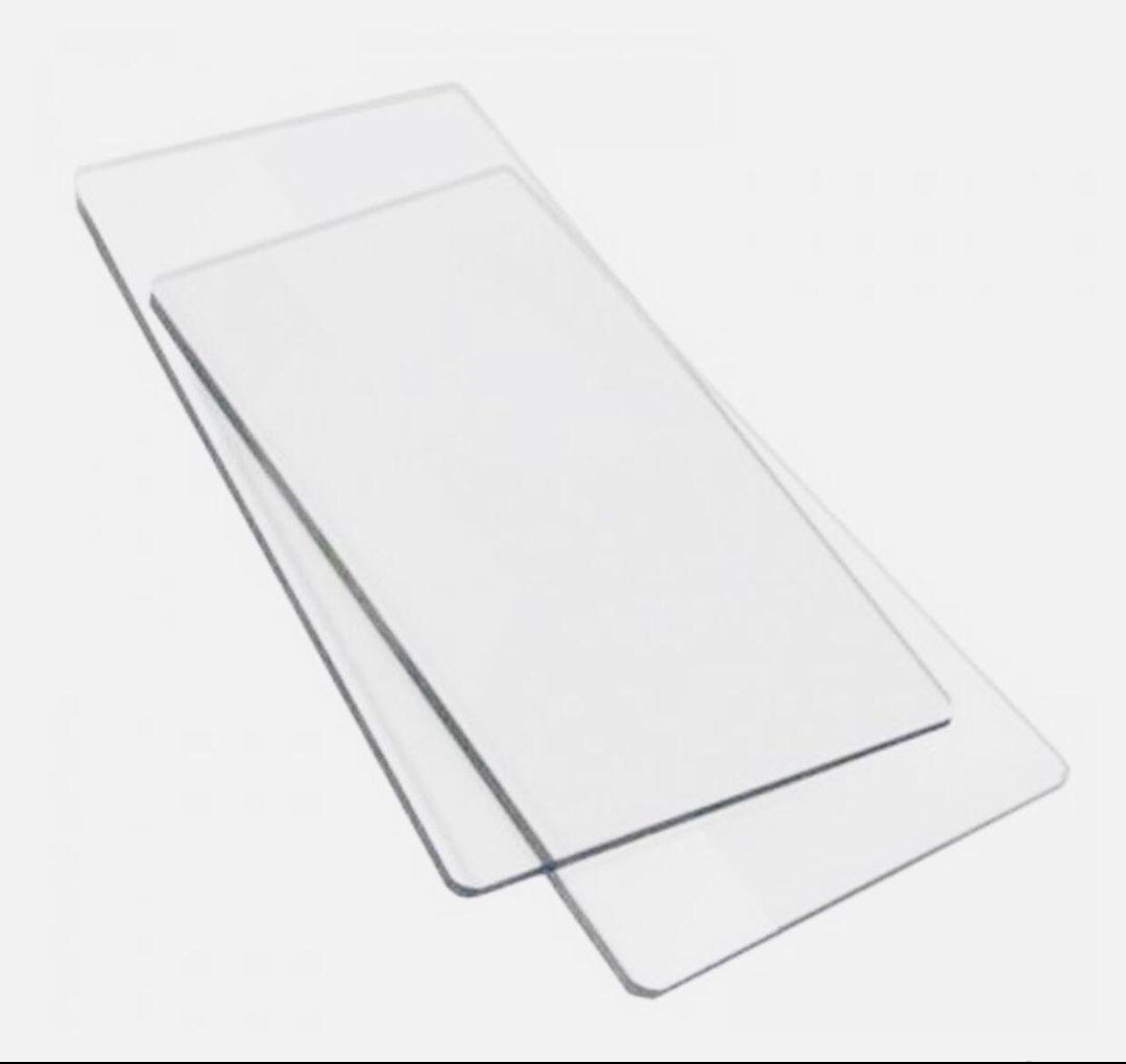 Par de Placas acrílicas extendidas 15x33cm para sizzix bigshot