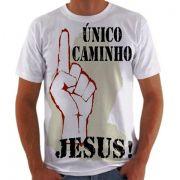 Camisa Personalizada Jesus Único Caminho