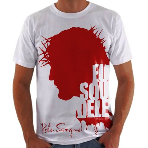 ad1663c10a Camisa Personalizada Eu Sou Dele Pelo Sangue - camisa Personalizada ...