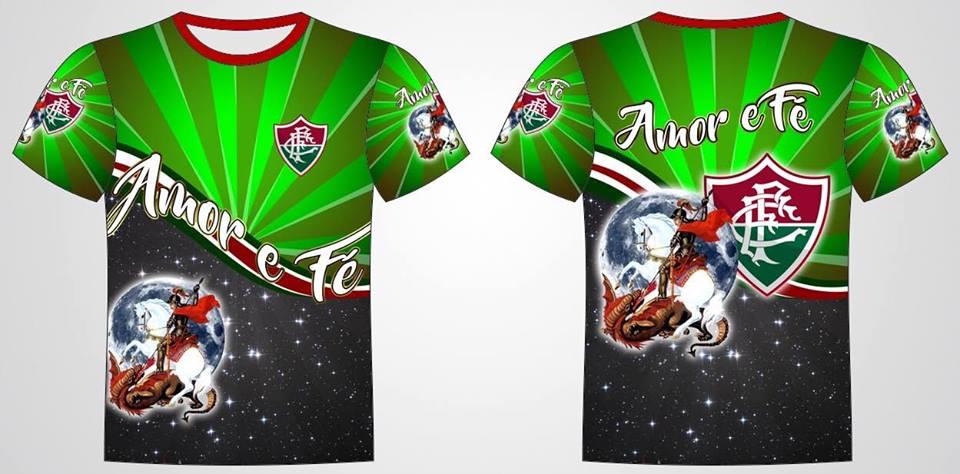 Camisa Personalizada Fluminense São Jorge Guerreiro