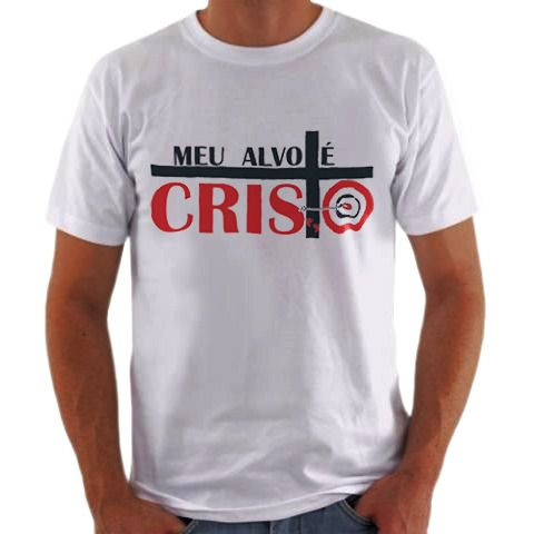 Camisa Personalizada Meu Alvo é Cristo